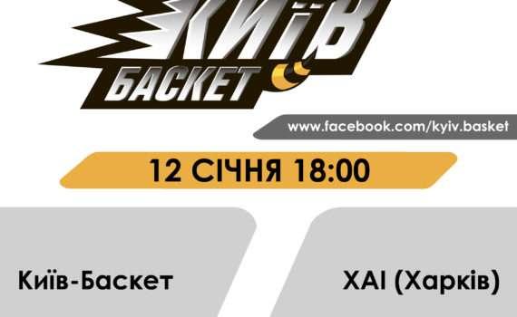 12.01 Змагання з баскетболу БК «Київ-Баскет»